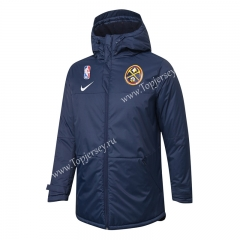 NBA Denver Nuggets Royal Blue Cotton Coat With Hat-815