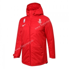 NBA Houston Rockets Red Cotton Coat With Hat-815