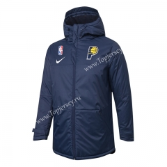 NBA Indiana Pacers Royal Blue Cotton Coat With Hat-815