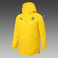 2020-2021 Borussia Dortmund Yellow Cotton Coat With Hat-815