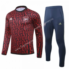 2020-2021 Arsenal Red (pad printing) Thailand Soccer Tracksuit-GDP