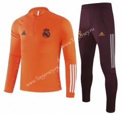 UEFA Champions League Version 2020-2021 Real Madrid Orange Thailand Soccer Tracksuit-GDP