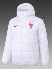 2020-2021 France White Cotton Coat With Hat-815