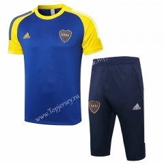 2020-2021 Boca Juniors Royal Blue Short-sleeve Thailand Soccer Tracksuit-815