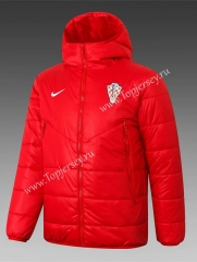 2020-2021 Croatia Red Cotton Coat With Hat-815