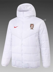 2020-2021 Portugal White Cotton Coat With Hat-815