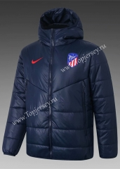2020-2021 Atletico Madrid Royal Blue Cotton Coat With Hat-815