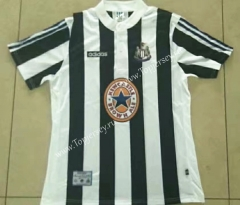 Retro Version 95-97 Newcastle United Home Black&White Thailand Soccer Jersey AAA-912