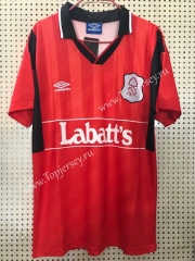 Retro Version 94-95 Nottingham Forest Red Thailand Soccer jersey AAA-811