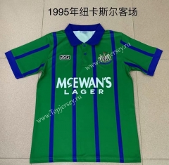 Retro Version 1995 Newcastle United Away Green Thailand Soccer Jersey AAA-709
