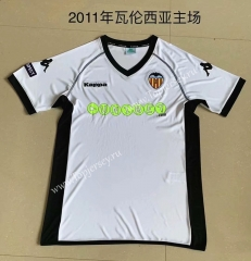 Retro Version 2011 Valencia Home White Thailand Soccer Jersey AAA-709