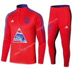 Joint Version 2020-2021 Bayern München Red Thailand Soccer Tracksuit-411