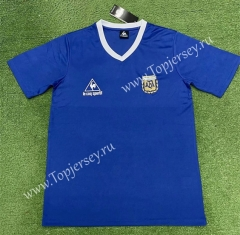 Retro Version 1986 Argentina Away Blue Thailand Soccer Jersey AAA-403