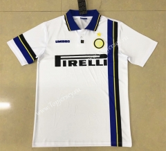 Retro Version 1997-1998 Inter Milan Away White Thailand Soccer Jersey AAA-HR