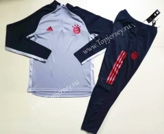 UEFA Champions League Version 2020-2021 Bayern München Light Gray Thailand Soccer Tracksuit-GDP