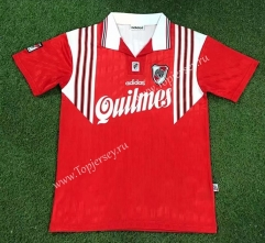 Retro Version 95-96 CA River Plate Red Thailand Soccer Jersey AAA-503