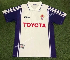 Retro Version 99-00 Fiorentina Away White Thailand Soccer Jersey AAA-503