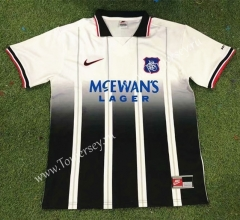 Retro Version 97-99 Rangers Away Black&White Thailand Soccer Jersey AAA-503