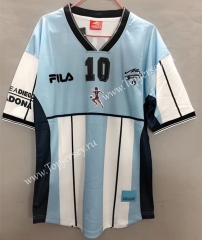Retro Version 2001 Maradona Blue and White Thailand Soccer Jersey AAA-811