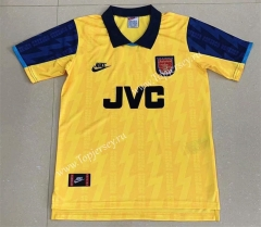Retro Version 1994 Arsenal 2nd Away Yellow Thailand Soccer Jersey AAA-709