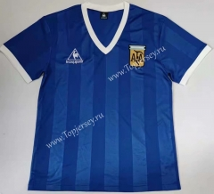 Retro Version 1986 Argentina Away Blue Thailand Soccer Jersey AAA-912