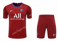 2020-2021 Paris SG Goalkeeper Red Thailand Soccer Uniform-418