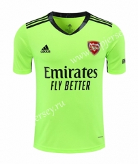 2020-2021 Arsenal Goalkeeper Fluorescent Green Thailand Soccer Jersey-418