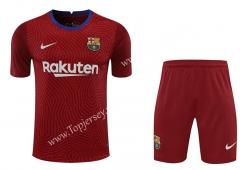 2020-2021 Barcelona Goalkeeper Maroon Thailand Soccer Uniform-418