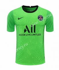 2020-2021 Paris SG Goalkeeper Green Thailand Soccer Jersey-418