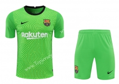 2020-2021 Barcelona Goalkeeper Green Thailand Soccer Uniform-418