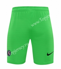 2020-2021 Paris SG Goalkeeper Green Thailand Soccer Shorts-418