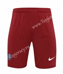 2020-2021 Paris SG Goalkeeper Red Thailand Soccer Shorts-418