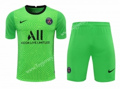 2020-2021 Paris SG Goalkeeper Green Thailand Soccer Uniform-418