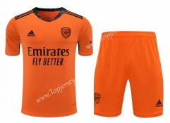 2020-2021 Arsenal Goalkeeper Orange Thailand Soccer Uniform-418