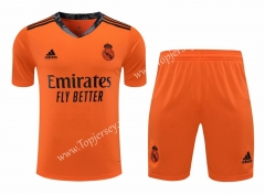 2020-2021 Real Madrid Goalkeeper Orange Thailand Soccer Uniform-418