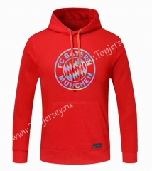 2020-2021 Bayern München Red Thailand Soccer Tracksuit Top With Hat-CS