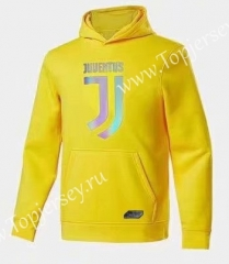 2020-2021 Juventus Yellow Thailand Soccer Tracksuit Top With Hat-CS