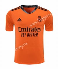 2020-2021 Real Madrid Goalkeeper Orange Thailand Soccer Jersey-418
