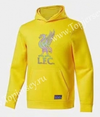 2020-2021 Liverpool Yellow Thailand Soccer Tracksuit Top With Hat-CS