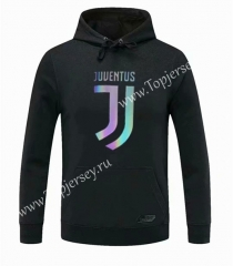 2020-2021 Juventus Black Thailand Soccer Tracksuit Top With Hat-CS