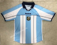 Retro Version 2000-2001 Argentina Home Blue and White Thailand Soccer Jersey AAA-HR
