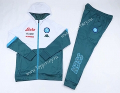 2020-2021 Napoli Light Green&White Thailand Soccer Jacket Uniform With Hat-CS