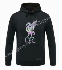 2020-2021 Liverpool Black Thailand Soccer Tracksuit Top With Hat-CS