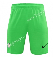 2020-2021 Inter Milan Goalkeeper Green LS Thailand Soccer Shorts-418