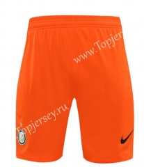 2020-2021 Inter Milan Goalkeeper Orange Thailand Soccer Shorts-418