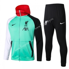 2020-2021 Liverpool Green Soccer Jacket Uniform With Hat-815