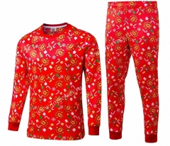 Christmas Version 2020-2021 Manchester United Red Thailand Soccer Tracksuit-422