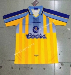 Retro Version 95-97 Chelsea Away Yellow Thailand Soccer Jersey AAA