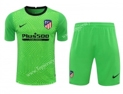 2020-2021 Atlético Madrid Goalkeeper Green Thailand Soccer Uniform-418