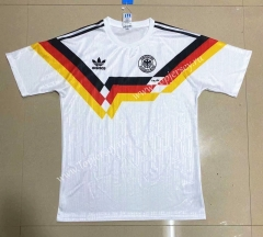 1990 Retro Version Germany Home White Thailand Soccer Jersey AAA-908